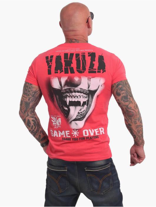 Yakuza T-shirt Game Over rosa