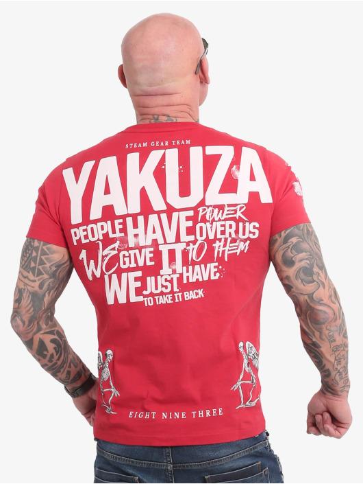 Yakuza T-shirt Power Over Us rosso