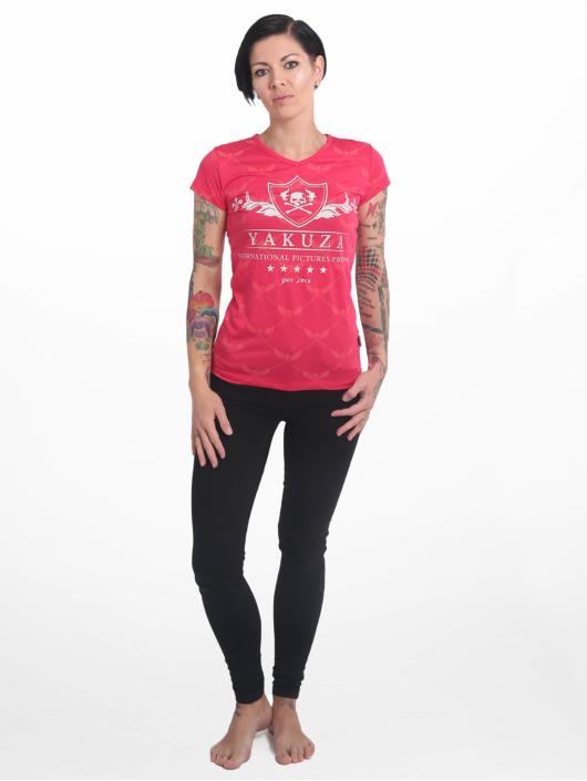 Yakuza T-Shirt Crests V Neck rot