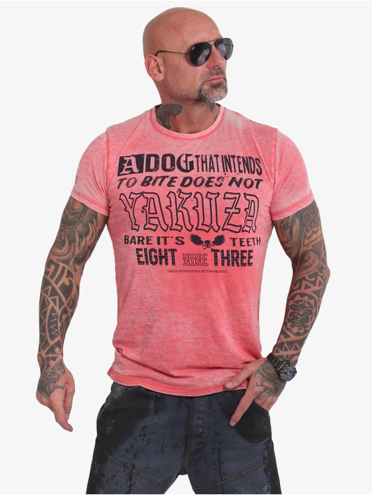 Yakuza T-Shirt Dog Burnout rot