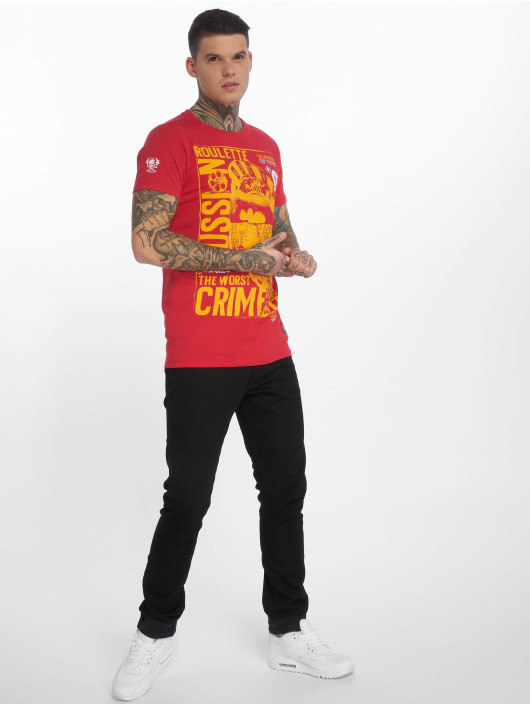 Yakuza T-Shirt Russian Roulette rouge