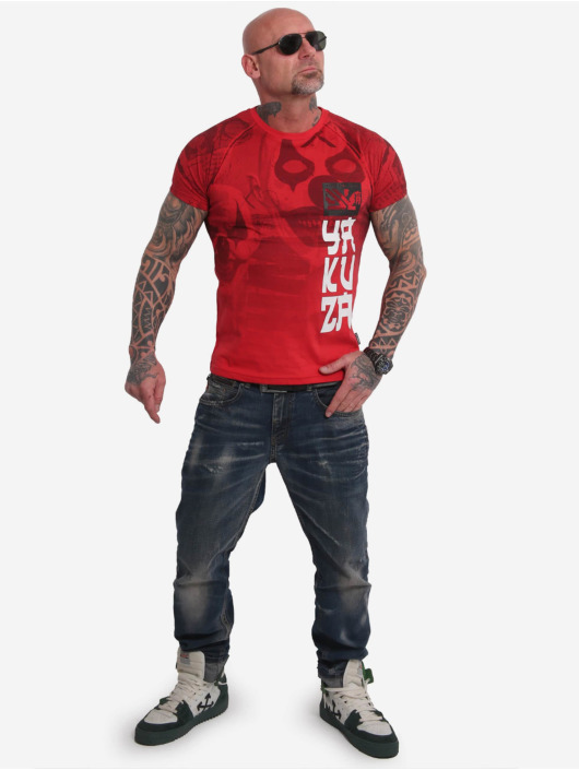 Yakuza T-Shirt Psycho Clown Allover rouge