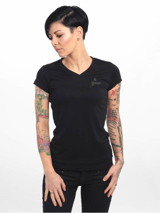 Yakuza T-Shirt Basic Line Script V Neck schwarz