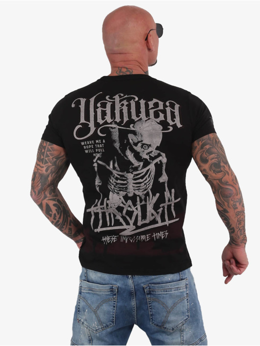Yakuza T-Shirt Through Bones schwarz