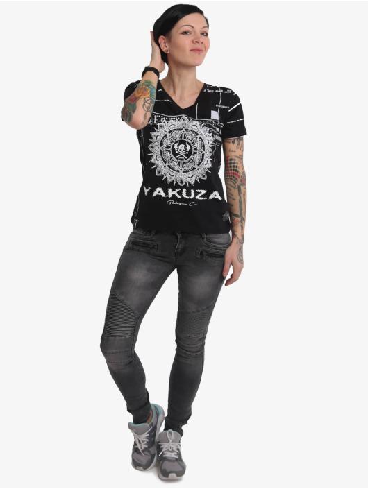 Yakuza T-Shirt Mandala V Neck schwarz