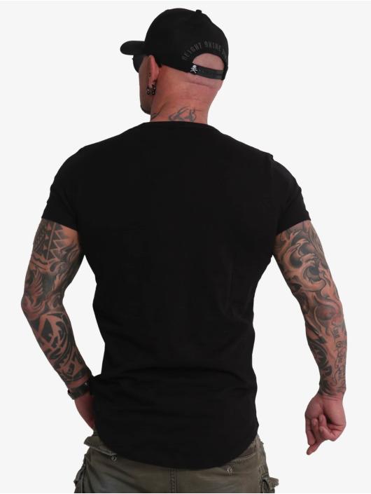 Yakuza T-Shirt Creative Studio Long Tail V-Neck schwarz