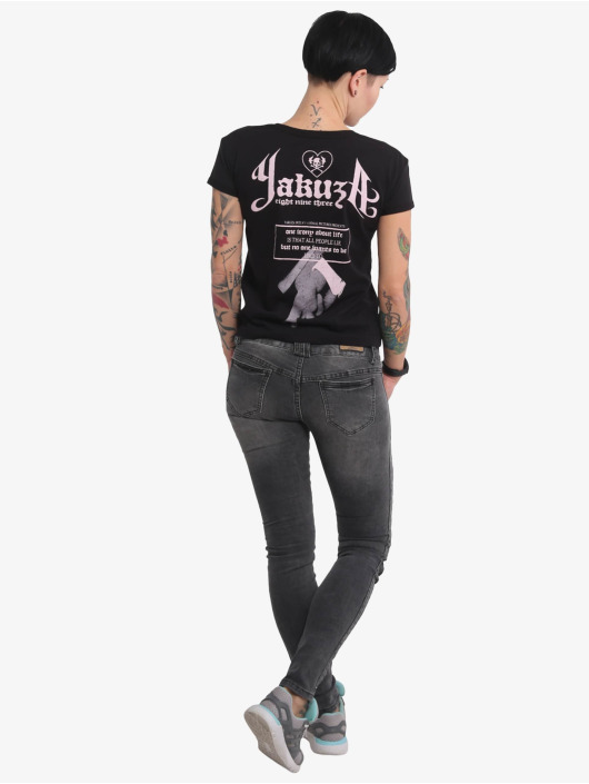 Yakuza T-Shirt Double Cross Box Fit schwarz