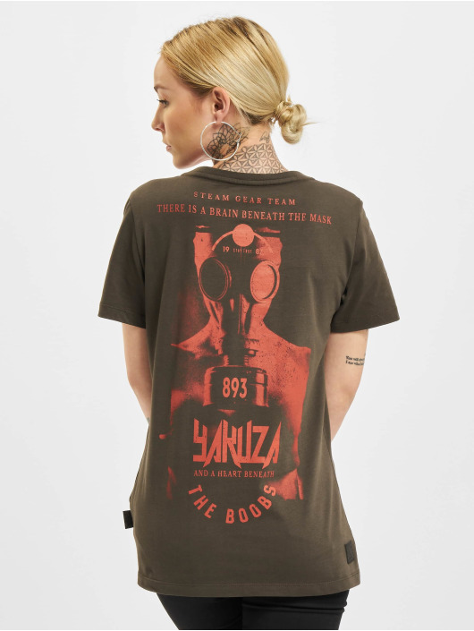 Yakuza T-Shirt Boobs V-Neck schwarz