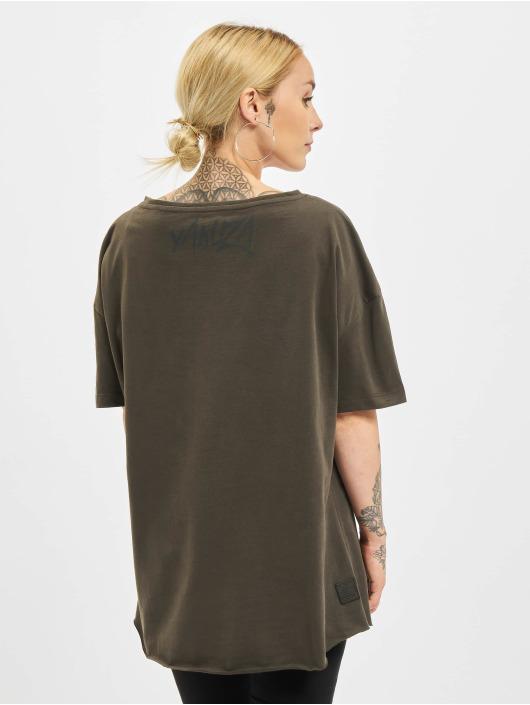 Yakuza T-Shirt Punch Loose V-Neck schwarz