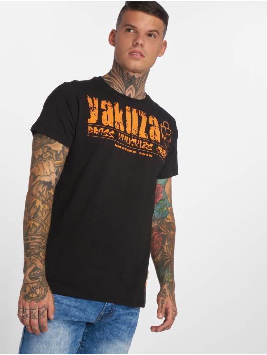 Yakuza T-shirt Brass Knuckles Crew svart