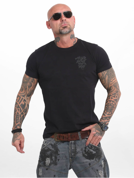 Yakuza T-shirt Basic Line 4W svart