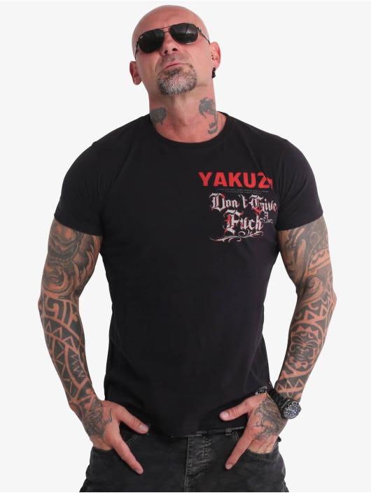 Yakuza T-shirt Give A Fck svart
