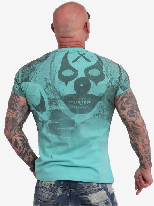 Yakuza T-Shirt Psycho Clown Allover türkis