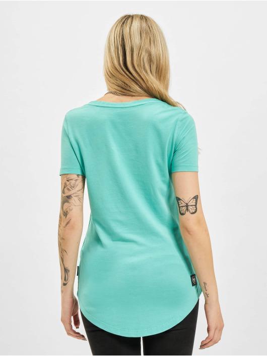Yakuza T-Shirt Painted Gun Dye V Neck türkis