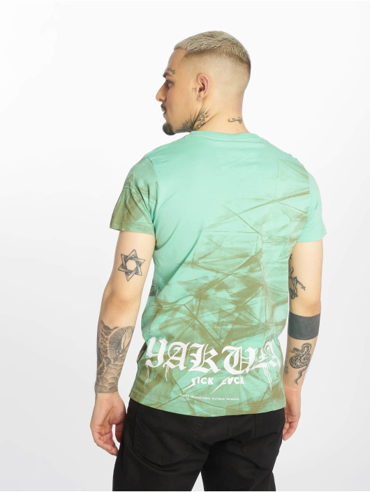 Yakuza T-shirt Cyber Death turchese