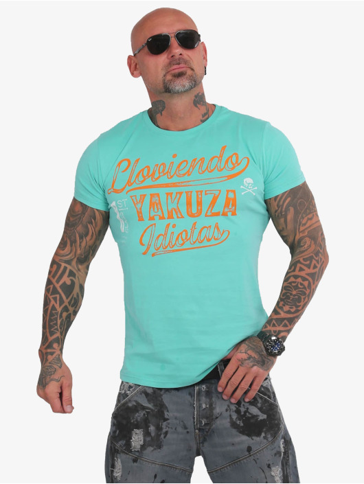 Yakuza T-shirt Lloviendo turchese