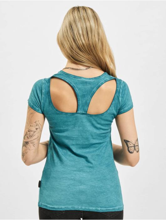 Yakuza T-shirt Time Over Dye Racer Back turchese