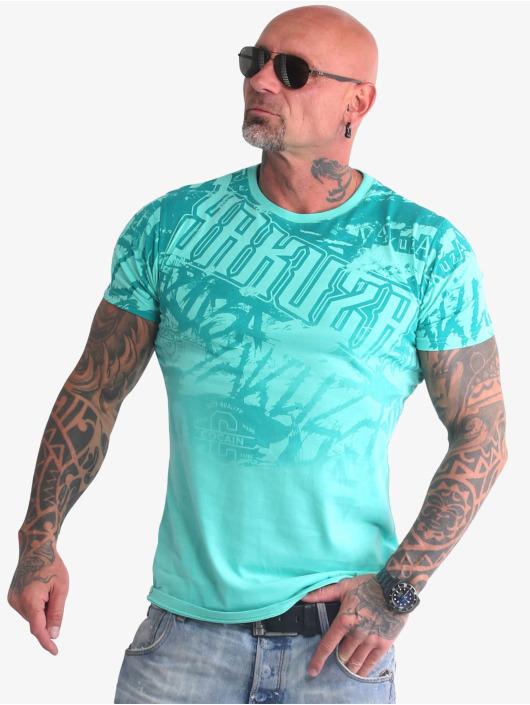 Yakuza T-shirt Life Allover turchese