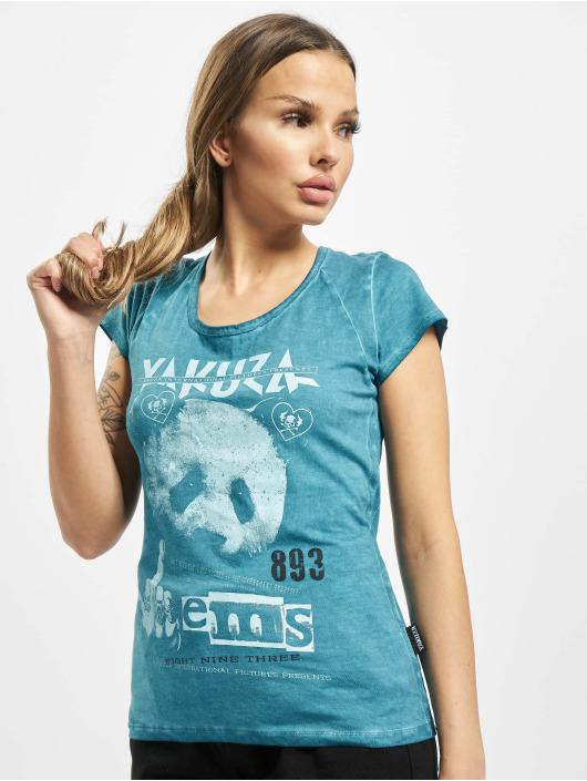 Yakuza t-shirt Panda Racerback turquois
