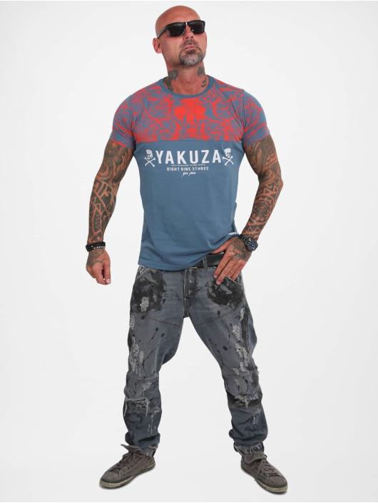 Yakuza T-Shirt Ornamentic Skull turquoise