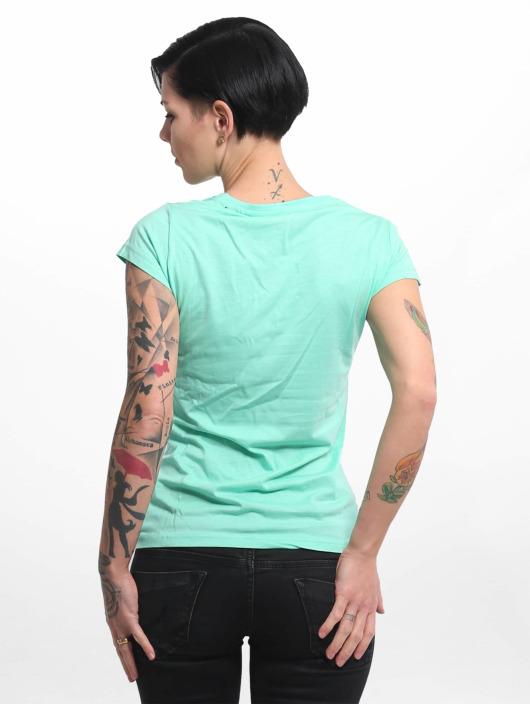 Yakuza T-Shirt Basic Line Script V Neck turquoise