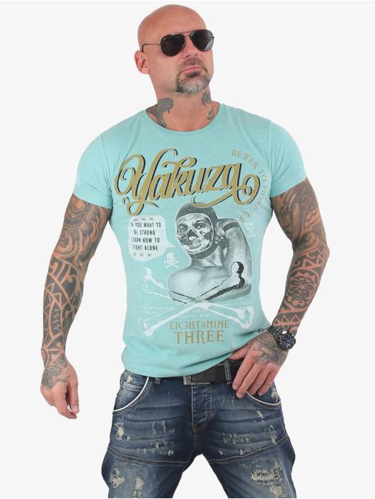 Yakuza T-Shirt Fight Alone turquoise
