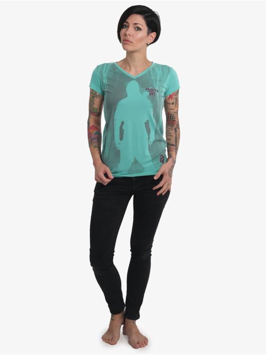 Yakuza T-Shirt Lock Up V-Neck turquoise
