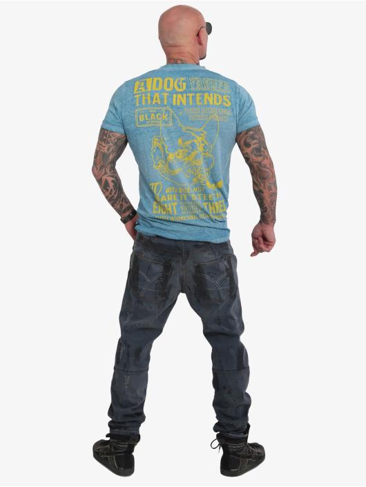 Yakuza T-Shirt Dog Burnout turquoise