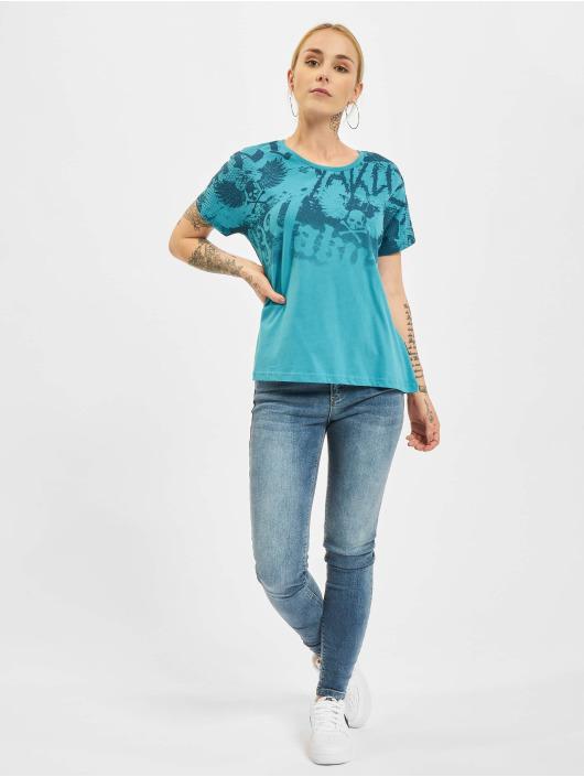 Yakuza T-Shirt 893Allover turquoise