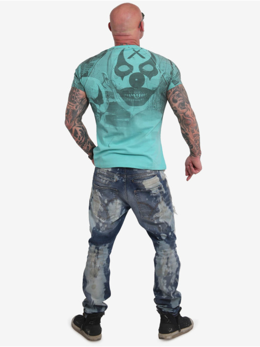 Yakuza T-Shirt Psycho Clown Allover turquoise
