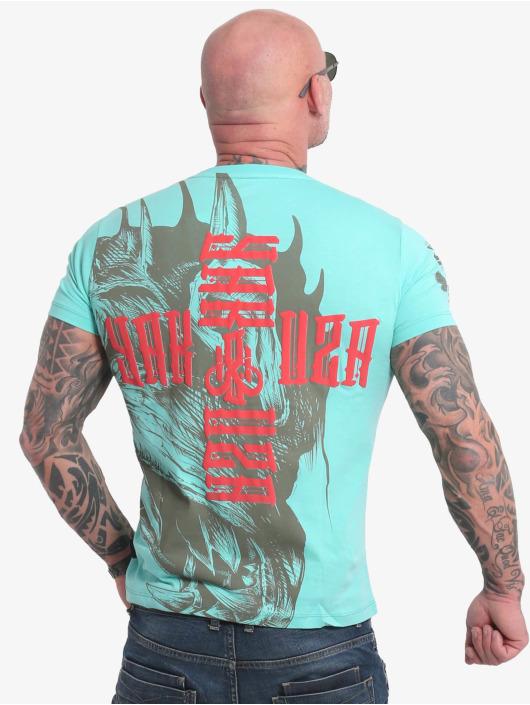 Yakuza T-Shirt Dragon turquoise