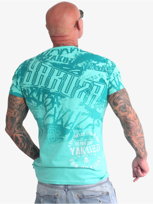 Yakuza T-Shirt Life Allover turquoise