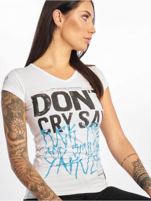Yakuza T-Shirt Smile V-Neck weiß