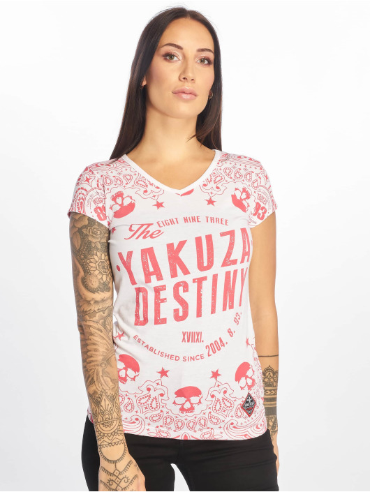 Yakuza T-Shirt Tijuana V-Neck weiß