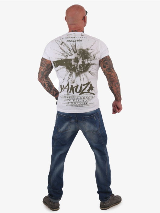Yakuza T-Shirt Destroy A Monster weiß