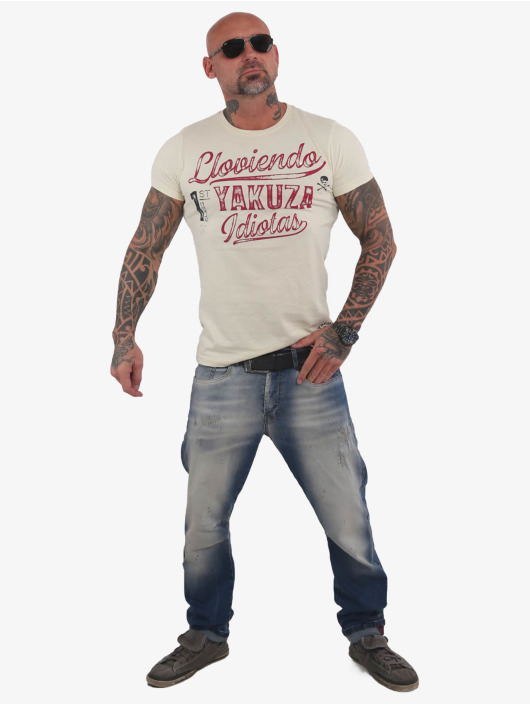 Yakuza T-Shirt Lloviendo weiß