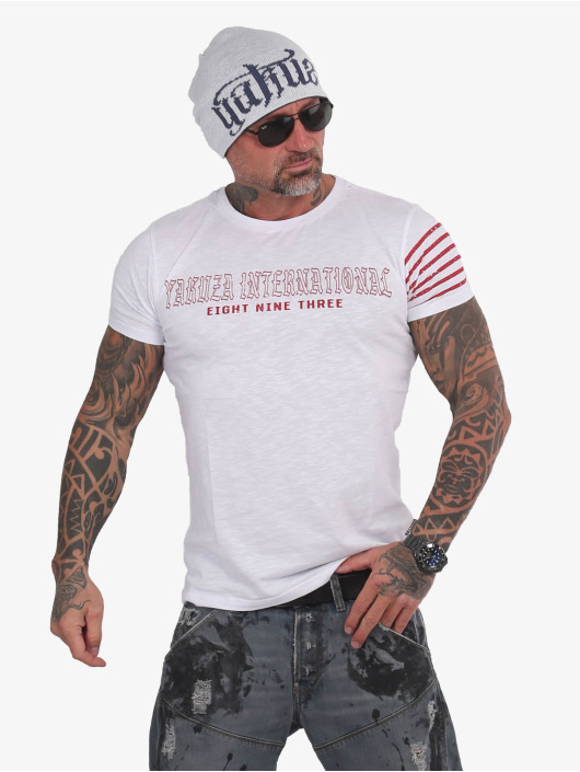 Yakuza T-Shirt International Stripes weiß