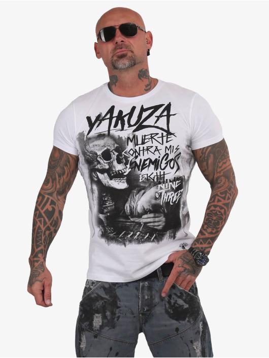 Yakuza T-Shirt Muerte Skull weiß