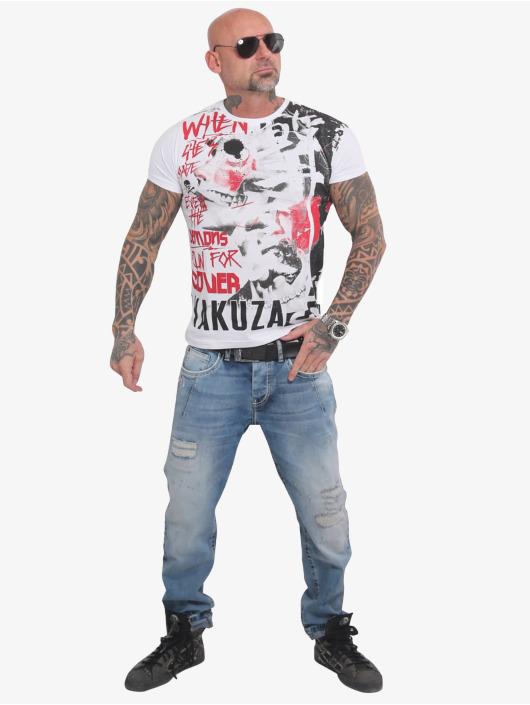 Yakuza T-Shirt Run For Cover Allover weiß