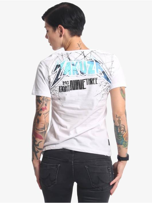 Yakuza T-Shirt My Heart V-Neck weiß
