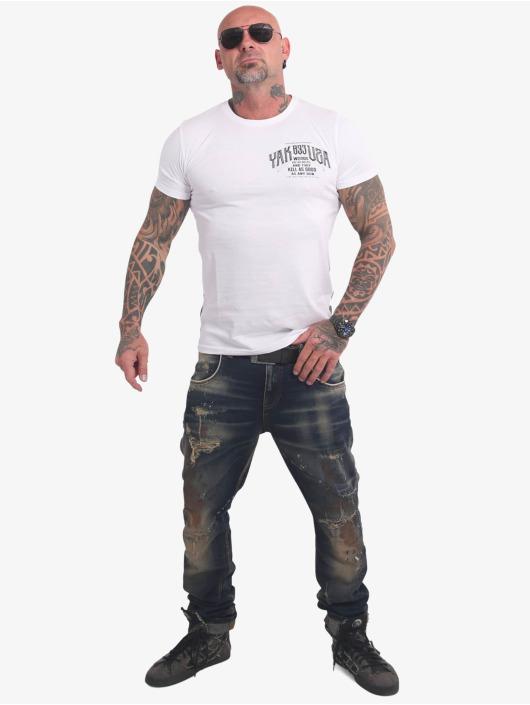 Yakuza T-Shirt Words Like Bullets weiß
