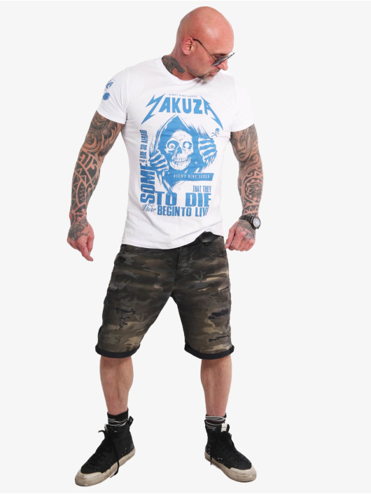 Yakuza T-Shirt Afraid To Die weiß