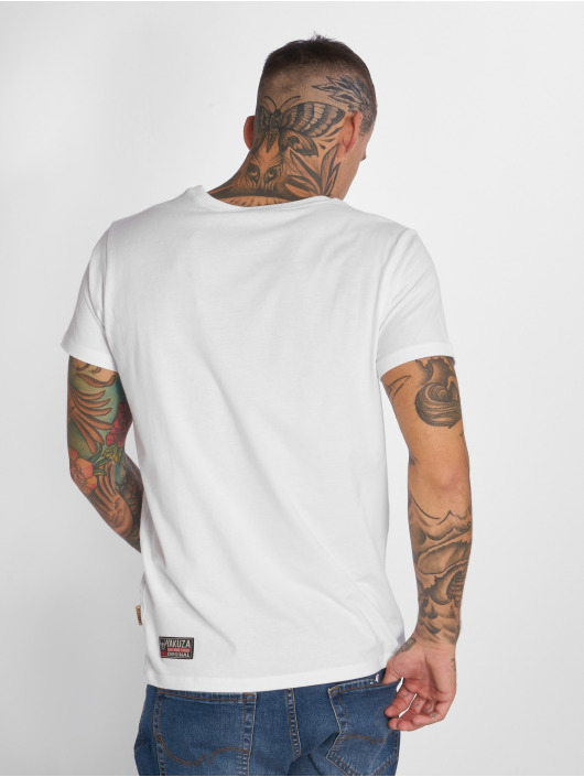 Yakuza T-Shirt Basic Line Crew Neck white
