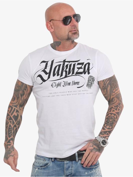 Yakuza T-Shirt Indian Skull white
