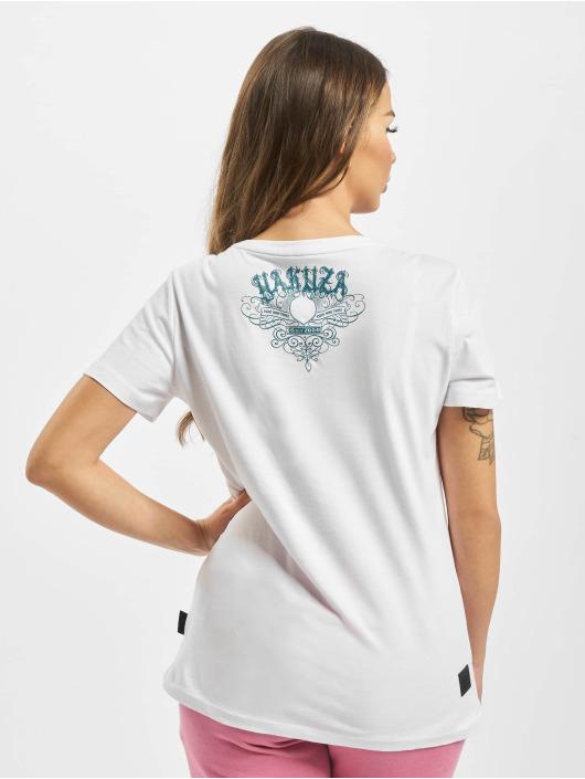 Yakuza T-Shirt Massive V Neck white