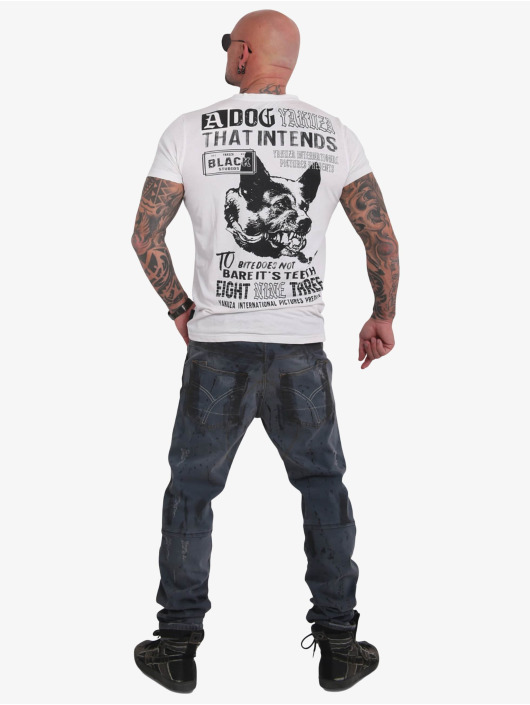 Yakuza T-Shirt Dog Burnout white