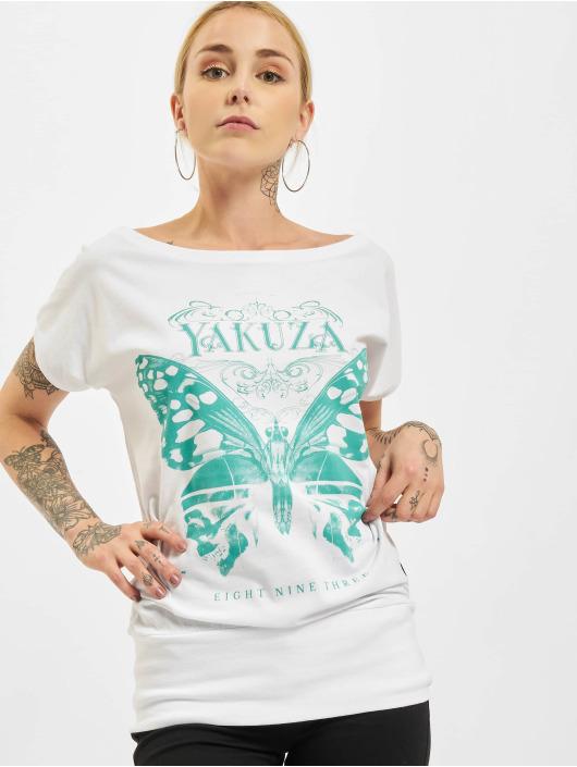 Yakuza T-Shirt Dead Butterfly Wide Crew white