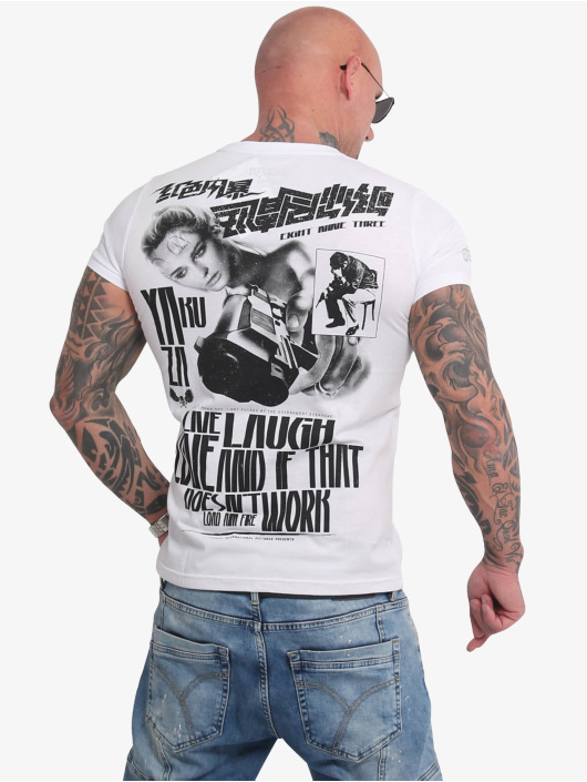 Yakuza t-shirt Live Laugh Love wit