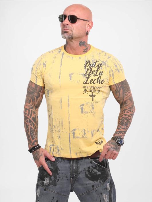Yakuza T-Shirt Puta De La Leche yellow