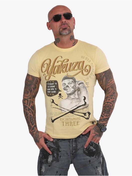 Yakuza T-Shirt Fight Alone yellow